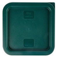 Choice 2 and 4 Qt. Green Square Polyethylene Food Storage Container Lid