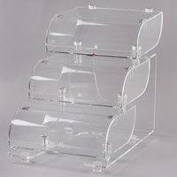 Rosseto BAK1210 Three-Tier Acrylic Bakery Display Case - 15 inch x 22 inch x 19 inch