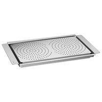Rosseto SM217 Multi-Chef 23 inch x 13 1/4 inch x 1 1/2 inch Stainless Steel Griddle with Perforated Flatbread Warming Tray