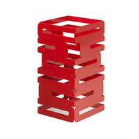 Rosseto SM186 Skycap 12 inch Red Gloss Steel Multi-Level Riser