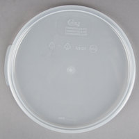Choice 6 and 8 Qt. Translucent Round Polypropylene Food Storage Container Lid