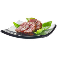 Rosseto GLS012 4 inch Smoked Glass Square Mini Plate - 24/Case