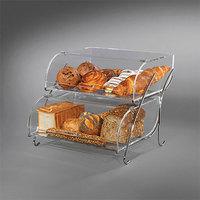 Rosseto BAK2937 Two-Tier Acrylic Bakery Display Case - 16 inch x 18 inch x 14 inch