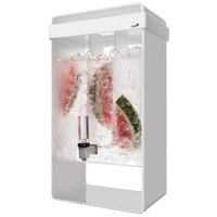 Rosseto LD155 5 Gallon White Acrylic Beverage Dispenser with Infusion Chamber