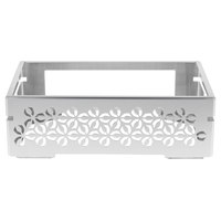 Rosseto SM259 Multi-Chef Iris 21 1/2 inch x 13 1/2 inch x 7 1/4 inch Stamped Brushed Stainless Steel Chafer Alternative Warmer Base