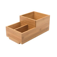Rosseto BD108 3 Compartment Natural Bamboo Condiment Holder