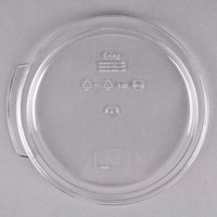 Choice 1 Qt. Clear Round Polycarbonate Food Storage Container Lid