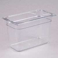Carlisle 3066907 StorPlus 1/3 Size Clear Polycarbonate Food Pan - 8 inch Deep