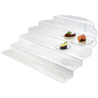 Rosseto GLS020 20 15/16 inch x 23 9/16 inch Clear Glass Straight Buffet Step Display