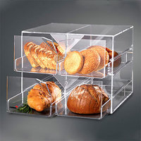 Rosseto D13700 4-Drawer Acrylic Bakery Display Case - 13 inch x 12 inch x 15 inch
