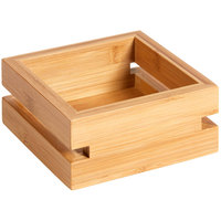 Rosseto BD134 Natura Small Bamboo Tray - 6 1/2 inch x 6 1/2 inch x 3 1/2 inch