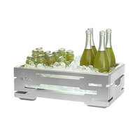 Rosseto SM243 Multi-Chef 21 9/16 inch x 13 9/16 inch Stainless Steel Ice Housing with Clear Acrylic Insert