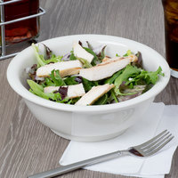 Tuxton BEB-3205 DuraTux 32 oz. Ivory (American White) China Footed Salad Bowl - 12/Case