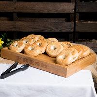 Rosseto BDB001 FRESH Natural Bamboo Bakery Display Base - 21 inch x 13 3/4 inch x 2 1/2 inch