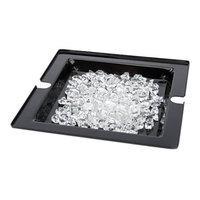 Rosseto SA122 Swan 14 3/16 inch x 14 3/16 inch Black Acrylic Ice Tub