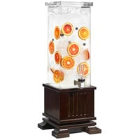 Rosseto LD152 The New Classic 2 Gallon Clear Acrylic Rectangle Beverage Dispenser with Maple Base
