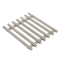 Rosseto SM179 8 1/2 inch Square Stainless Steel Track Grill Top