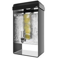 Rosseto LD156 5 Gallon Black Acrylic Beverage Dispenser with Infusion Chamber