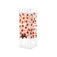 Rosseto LD128 4 Gallon Clear Acrylic Square Beverage Dispenser with Acrylic Base