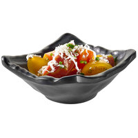Rosseto MEL006 Rustic 2 oz. Black Melamine Square Dish - 24/Case