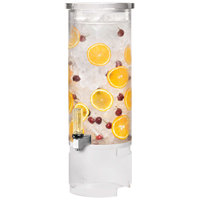 Rosseto LD123 3 Gallon Clear Acrylic Round Beverage Dispenser with Acrylic Base