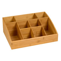 Rosseto SB103 9 Compartment Bamboo Condiment Holder