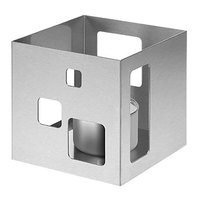 Rosseto SM136 7 1/4 inch x 7 1/4 inch x 7 inch Short Square Brushed Stainless Steel Warmer