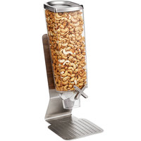 Rosseto EZ513 EZ-PRO 3.8 Liter Single Canister Tabletop Snack / Cereal Dispenser with Stainless Steel Stand - 6 inch x 8 inch x 17 inch