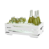 Rosseto SM245 Multi-Chef 21 9/16 inch x 13 9/16 inch White Matte Steel Ice Housing with Clear Acrylic Insert