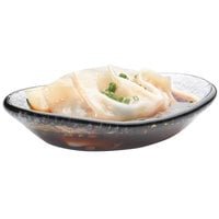 Rosseto GLS004 2 oz. Smoked Glass Mini Oval Bowl - 24/Case