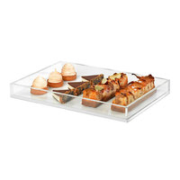 Rosseto SA115 Clear Acrylic Rectangular Display Tray - 18 inch x 12 inch x 2 inch