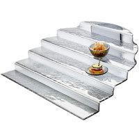 Rosseto GLS021 20 15/16 inch x 23 9/16 inch Smoked Glass Straight Buffet Step Display