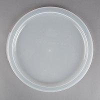 Choice 12, 18, and 22 Qt. Translucent Round Polypropylene Food Storage Container Lid