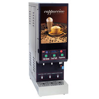 Cecilware GB3M10-IT-LD Vista IT Series Digital Triple Hopper Powdered Cappuccino Dispenser with Illuminated Front - 120V