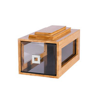 Rosseto BD106 Small Drawer Natural Bamboo Bakery Building Block - 8 inch x 14 3/4 inch x 7 1/2 inch