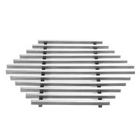 Rosseto SM223 17 3/4 inch x 15 1/2 inch Large Honeycomb Stainless Steel Track Grill Top