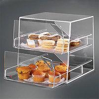 Rosseto BAK2231 2-Drawer Acrylic Bakery Display Case - 11 inch x 12 inch x 12 inch