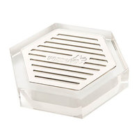 Rosseto LD107 Acrylic / Stainless Steel Honeycomb Drip Tray - 4 inch x 4 inch x 1 inch
