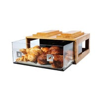 Rosseto BD105 Large Drawer Natural Bamboo Bakery Building Block - 16 inch x 14 3/4 inch x 7 1/2 inch