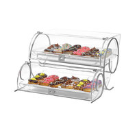 Rosseto BK012 Two-Tier Extra-Large Acrylic Bakery Display Case - 12 3/4 inch x 23 inch x 14 inch