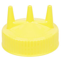Vollrath 3300-08 Yellow Colored Triple Tipped Cap for Bottles with 63 mm Openings