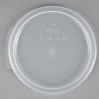Choice 1 Qt. Translucent Round Polypropylene Food Storage Container Lid