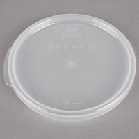 Choice 2 and 4 Qt. Translucent Round Polypropylene Food Storage Container Lid