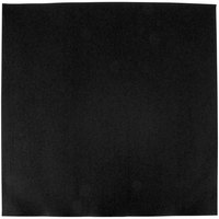 Hoffmaster FashnPoint Black Flat Pack Linen-Feel Napkin, 15 1/2 inch x 15 1/2 inch - 750/Case