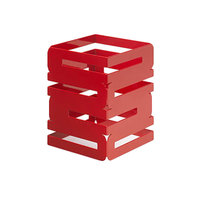 Rosseto SM185 Skycap 8 inch Red Gloss Steel Multi-Level Riser