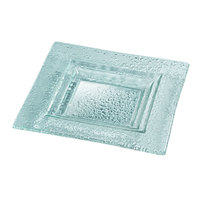 Rosseto GSP14 14 inch Green Glass Extra Large Square Platter