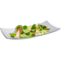 Rosseto GLS018 18 1/2 inch x 9 1/16 inch Clear Glass Rectangular Platter - 3/Case
