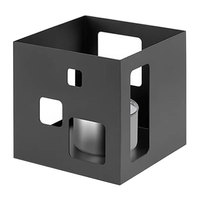 Rosseto SM140 7 1/4 inch x 7 1/4 inch x 7 inch Short Square Black Matte Steel Warmer