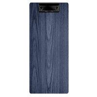 Menu Solutions WDCLIP-BA Denim 4 1/4 inch x 11 inch Customizable Wood Menu Clip Board