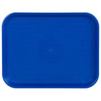 Choice 14 inch x 18 inch Blue Plastic Fast Food Tray
